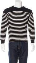 Saint Laurent Striped Long Sleeve Sweater