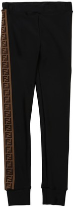 Fendi Lycra Leggings W/ Logo Bands