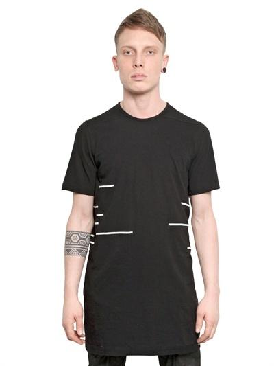 Rick Owens Striped Cotton Jersey T-Shirt