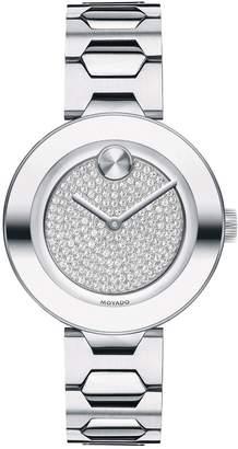Movado 32mm BOLD Crystal Bracelet Watch