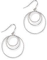 New York & Co. Textured Hoop Drop Earring