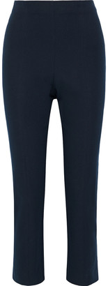 Elie Tahari Jessalyn Cropped Stretch-cotton Twill Slim-leg Pants