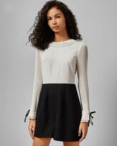Ted Baker Contrast Pleated Sleeve Playsuit