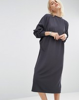 Asos Oversized Midi Dress In Rib