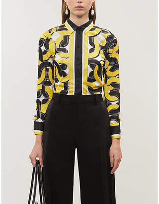 Bottega Veneta Abstract-print satin shirt