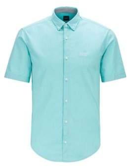 BOSS Short-sleeved regular-fit shirt in stretch cotton