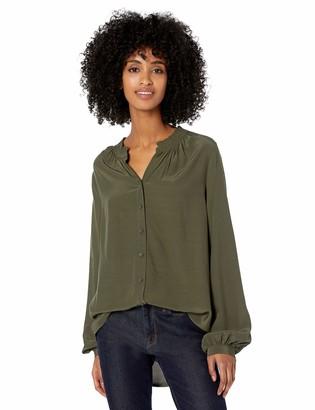 Goodthreads Amazon Brand Women's Viscose Sleeve-Interest Shirt