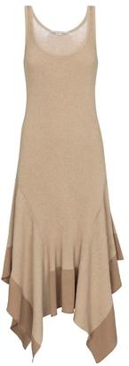 Stella McCartney Asymmetric cotton-blend midi dress