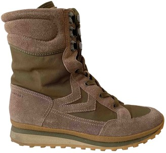 Marc by Marc Jacobs Khaki Suede Boots