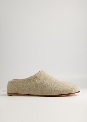 LAUREN MANOOGIAN Women's Burlap Mono Mule Shoes in Linen, Size 36 | Leather