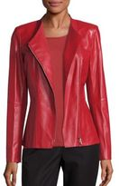 Lafayette 148 New York Leather Austin Peplum Jacket