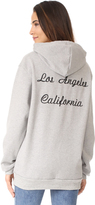 Rodarte Los Angeles Oversized Embroidery Hoodie