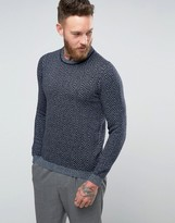 Ted Baker Herringbone Knitted Jumper