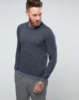 Ted Baker Herringbone Knitted Sweater