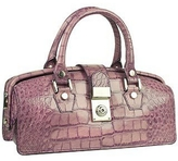 L.a.p.a. Lilac Croco-embossed Mini Doctor Style Bag
