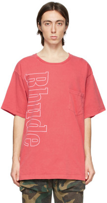 Rhude Red Logo Pocket T-Shirt