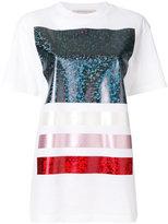 Christopher Kane foil detail T-shirt