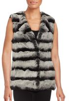 La Fiorentina Sleeveless Rex Rabbit Fur Vest