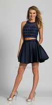 Dave and Johnny Bead Embellished Two Piece Pleated Homecoming Dress