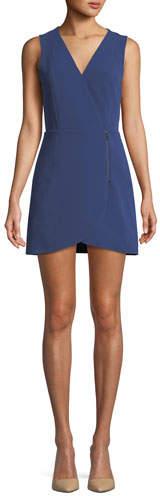 Alice + Olivia Lennon Side-Zip Mini Dress