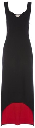 Alexander McQueen Knitted Dress with High-Low Hem