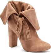 Wild Diva Taupe Tassel Blossom Boot