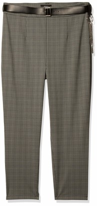 Forever 21 Women's Plus Size Belted Glen Plaid Pants