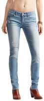Aeropostale Womens Light Wash Destroyed Skinny Jean