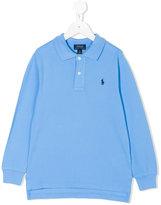 Ralph Lauren long sleeve polo shirt - kids - Cotton - 2 yrs