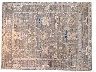 F.J. Kashanian 9'x12' Sari Oushak Mara Rug - Gray
