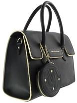 Versace Ee1vqbbh6 E899 Structured Silhouette- Top Handle Satchel Black Satchel Bag.