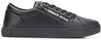 Versace Side Zipped Logo Sneakers