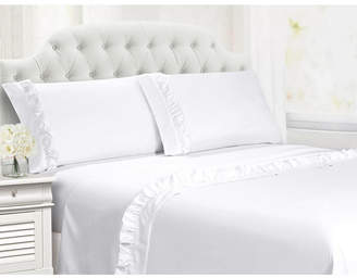 Ruffle Hem Full 4 Pc Sheet Set Bedding