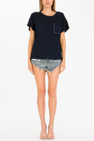 Olivaceous Hole Studded Top