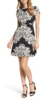 Adrianna Papell Women's Print Fit & Flare Dress