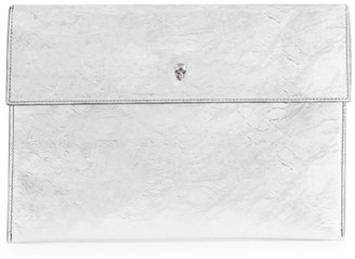 Alexander McQueen Skull Metallic Leather Pouch