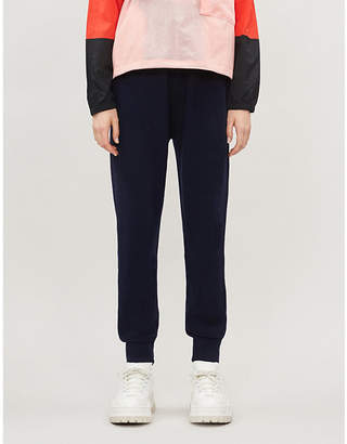 Benetton Tapered wool-blend jogging bottoms