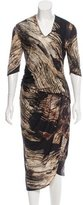 Helmut Lang Abstract Print Wool Dress