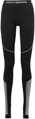 Paco Rabanne Paneled Stretch-jersey Stirrup Leggings