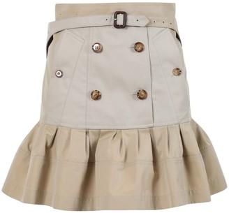 Burberry Khaki Flared Skirt