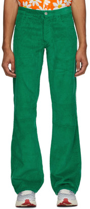 ERL Green Corduroy Trousers