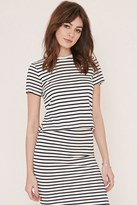 Forever 21 Stripe Zipped Top