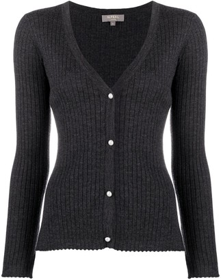 N.Peal Pearl Button Cashmere Cardigan
