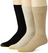 Gold Toe Men's Classic Canterbury Crew Socks (Pack of 3)