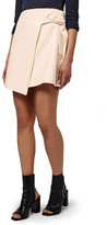 Topshop Faux Wrap Miniskirt