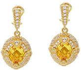 Judith Ripka 14K Clad 6.00 ct Yellow Diamonique Drop Earrings