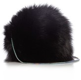 Diane von Furstenberg Love Power fox-fur bag