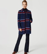LOFT Petite Brushed Plaid Coat