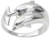 Journee Collection Women's Tressa Collection Pair of Dolphins Ring in Sterling Silver