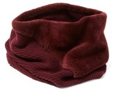 Lafayette 148 New York Women's Genuine Rabbit Fur Trim Tube Scarf